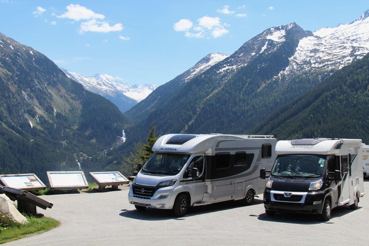 Austria Taking The Gerlos Alpine Pass To Camping